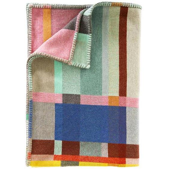 Wolldecke bunt gewebtes Würfelmuster - bunt - 100 % Wolle - Wolldecken & Plaids
