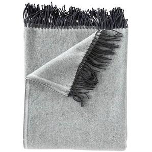 Wolldecke grau - bunt - 100 % Merinowolle - Wolldecken & Plaids