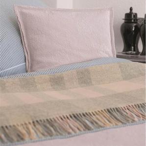 Wolldecke pastellfarben - bunt - 100 % Merinowolle - Wolldecken & Plaids