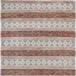 Wollteppich »Aalborg«, LUXOR living, rechteckig, Höhe 10 mm, reine Wolle, handgewebt, Rauten Design, Wohnzimmer