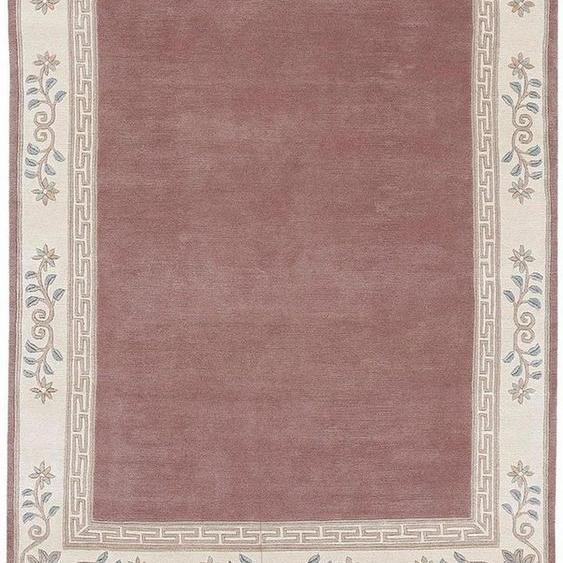 Wollteppich »Adour«, LUXOR living, rechteckig, Höhe 18 mm, reine Wolle, handgeknüpft, mit Bordüre und Fransen, Wohnzimmer