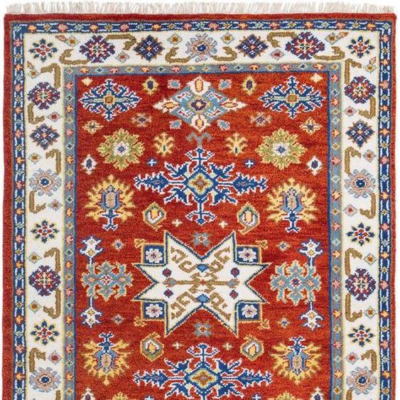 Orientteppich »Delhi 2«, LUXOR living, rechteckig, Höhe 20 mm, reine Wolle, handgeknüpft, mit Fransen, Wohnzimmer