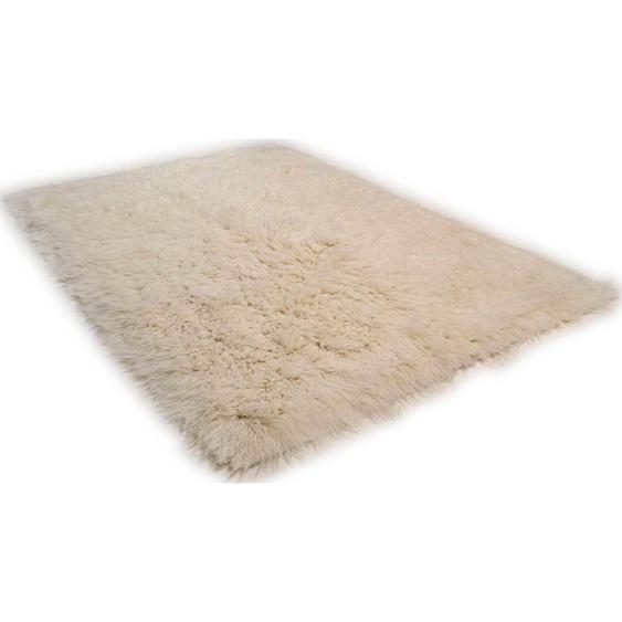 Wollteppich »Flokos 2«, Theko Exklusiv, rechteckig, Höhe 70 mm, Hochflor, reine Wolle, handgewebt, Wohnzimmer