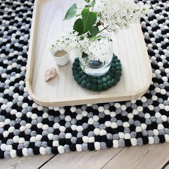 Wollteppich, Mixed Color, Wooldot, rechteckig, Höhe 23 mm, handgewebt 100x150 cm, mm schwarz Kinder Bunte Kinderteppiche Teppiche