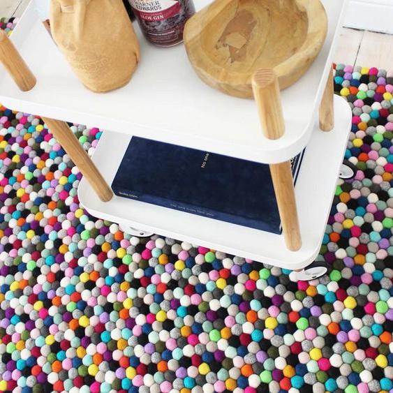 Wollteppich, Mixed Color, Wooldot, rechteckig, Höhe 23 mm, handgewebt 3, 120x180 cm, mm bunt Kinder Bunte Kinderteppiche Teppiche