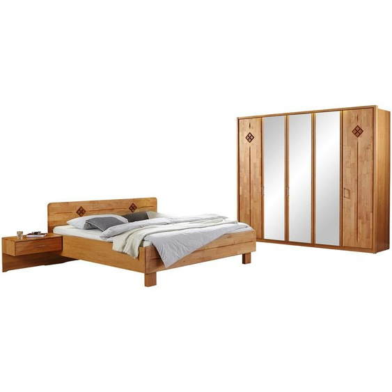 Woodford Komplett-Schlafzimmer 4-tlg.  Genua ¦ holzfarben