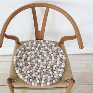 Wooldot Sitzkissen »Mixed Color«, rund, Filzkugelteppich, Wolle, auch als Set bestellbar