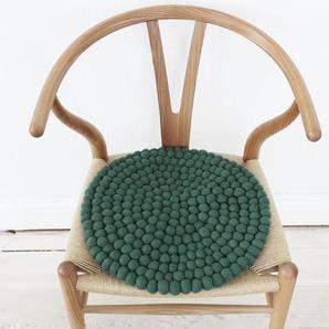 Wooldot Sitzkissen »Uni Color«, rund, Filzkugelteppich, Wolle, auch als Set bestellbar