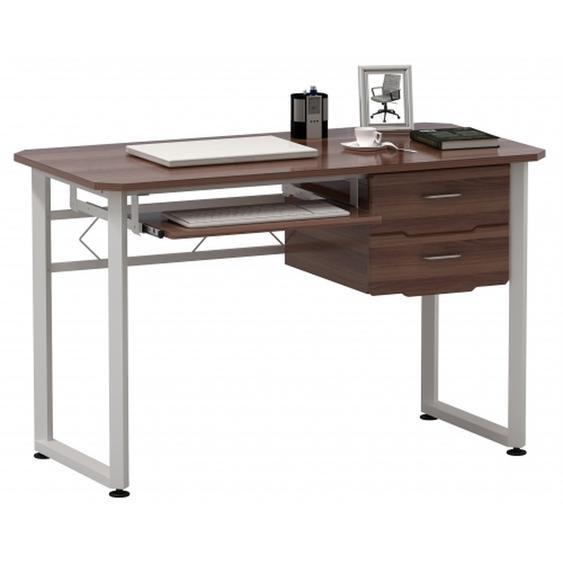 WORKFLOW | 120x60 - Schreibtisch Walnuss / Weiß