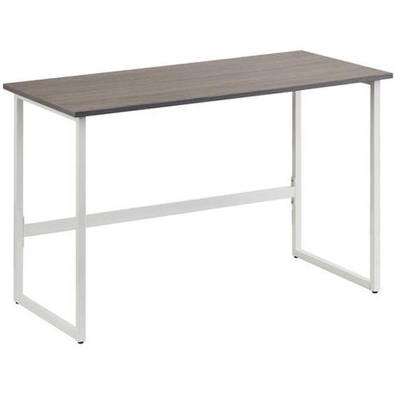 WORKSPACE LIGHT | 120x60 - Schreibtisch Grau / Weiß