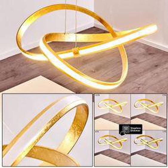 Woyens Pendelleuchte LED Gold, 1-flammig - Modern - Innenbereich - versandfertig innerhalb von 2-3 Wochen