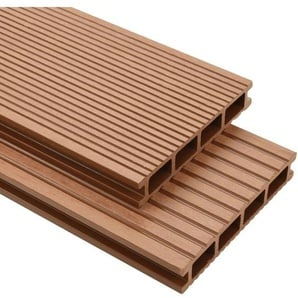WPC Terrassendielen mit Montagezubehör 20 m2 2,2 m Braun VD17171 - Hommoo