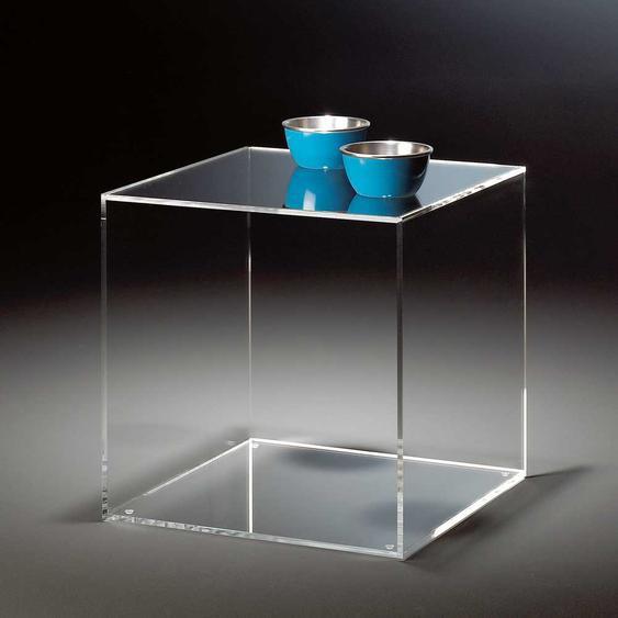 Würfel Beistelltisch aus Acrylglas modern