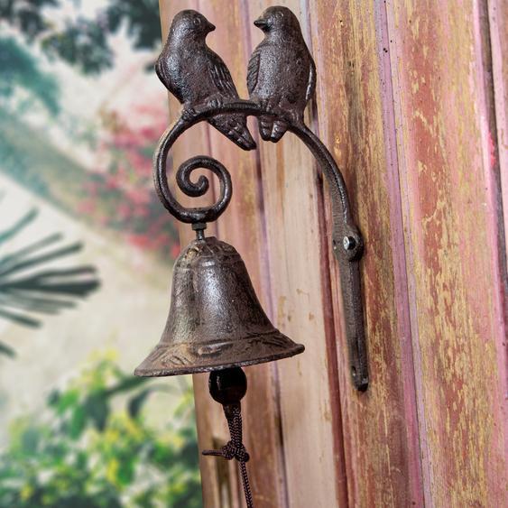 Wunderschöne Türglocke, 2 Vögel, Haustürglocke wie antik, im Landhausstil