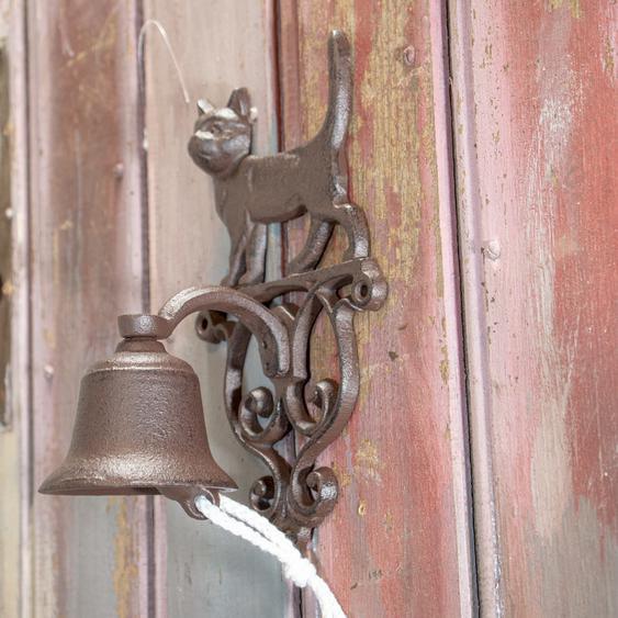 Wunderschöne Türglocke, Katze, Haustürglocke wie antik, im Landhausstil
