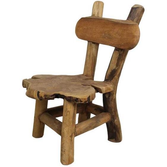 Wurzelholz Kinderstuhl aus Teak Massivholz 30 cm Sitzhöhe