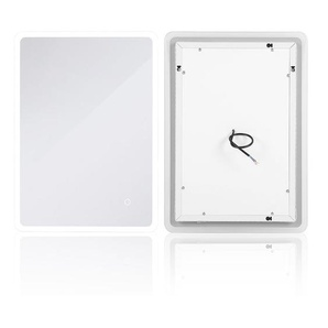 Wandspiegel LED Badspiegel Lichtspiegel Kosmetikspiegel 80*60cm Berührungsschalter - WYCTIN