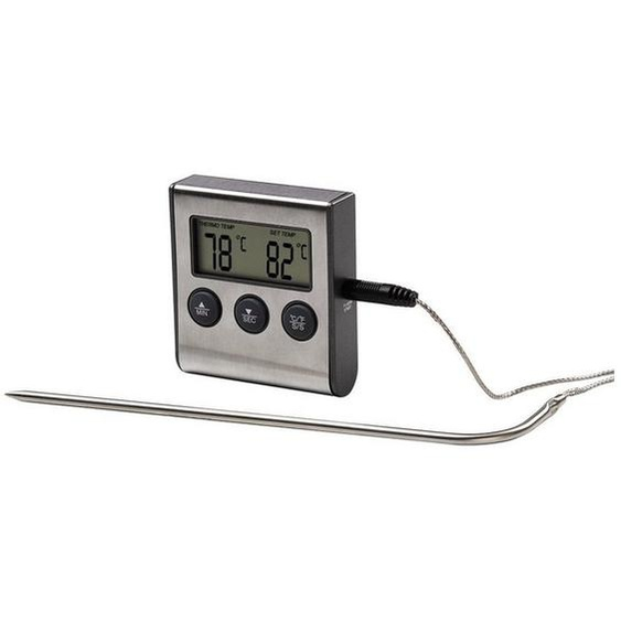 Xavax Digitales Bratenthermometer mit Timer Grillthermometer »Fleischthermometer Ofenthermom«