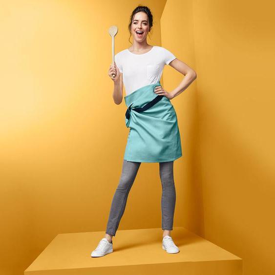 XL-Schürzentuch - blau - 100% Baumwolle -