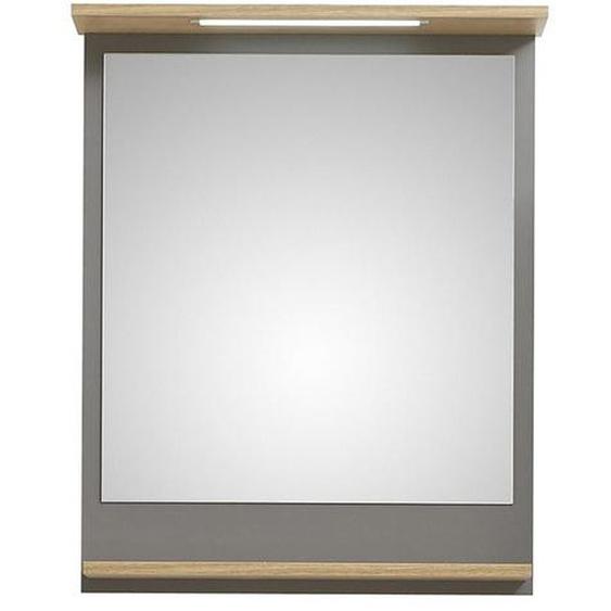 Xora Badezimmerspiegel , Grau , Glas , 60x76x13.4 cm