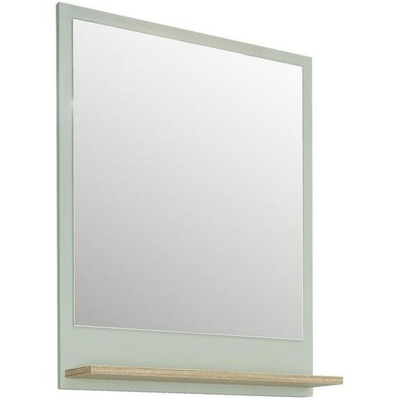 Xora Badezimmerspiegel Pastellgrün , Eiche, Pastellgrün , Holzwerkstoff , 60x74.5x15.5 cm