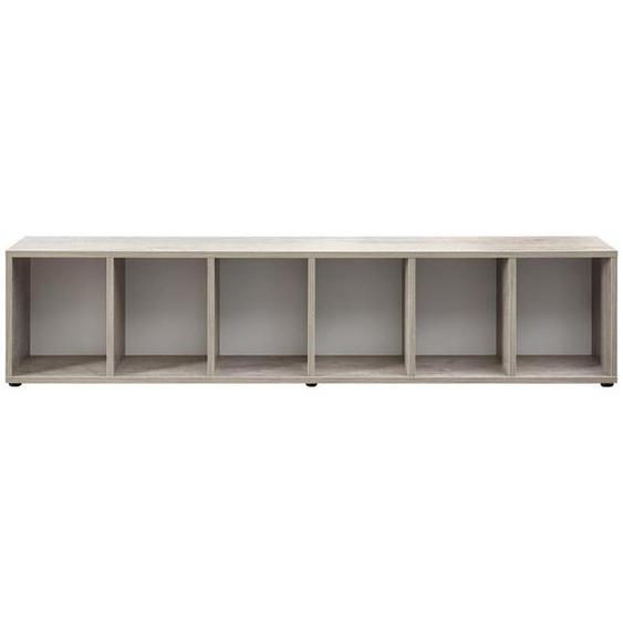 Xora Bettregal 207,2/46,5/30 cm Weiß, Braun , Holzwerkstoff , 207.2x46.5x30 cm
