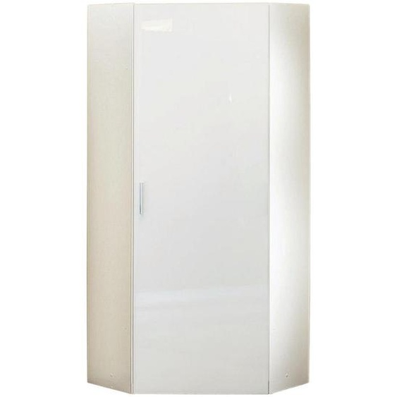 Xora Eckschrank Weiß , Holzwerkstoff , 5 Fächer , 80x185x80 cm