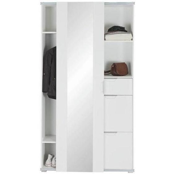 Xora Garderobe Weiß , Glas , 106x193x36 cm