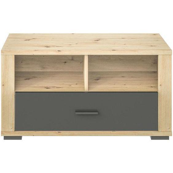 Xora Garderobenbank Braun , Kunststoff , 1-Sitzer , 1 Schubladen , 85x45x38 cm