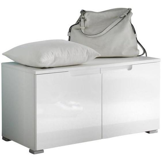 Xora Garderobenbank Weiß , 1-Sitzer , 80x43x40 cm