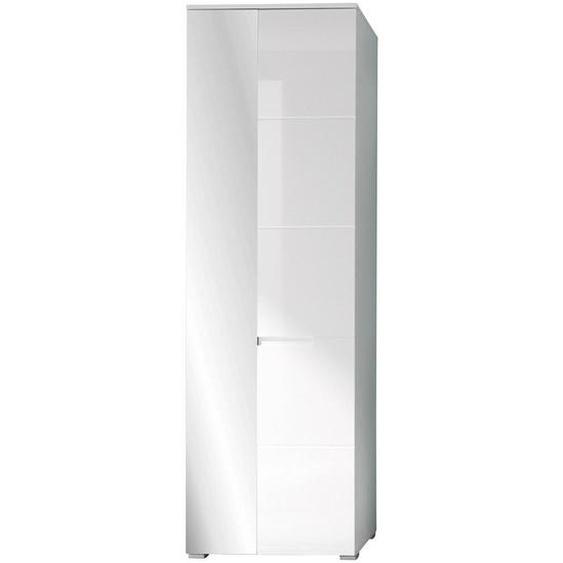 Xora Garderobenschrank Weiß , Holzwerkstoff , 4 Fächer , 60x198x40 cm