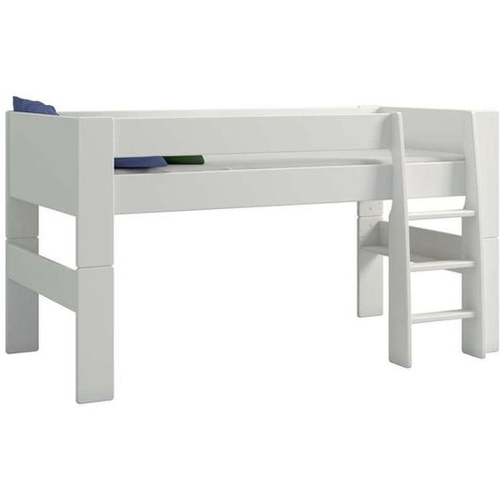 Xora Hochbett 90/200 cm Weiß , Holzwerkstoff , 90x200 cm