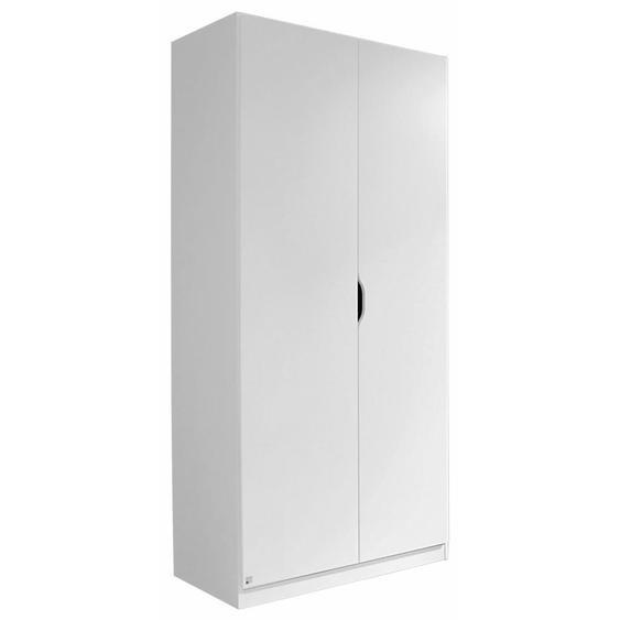 Xora Kleiderschrank , Weiß , Holzwerkstoff , 1 Fächer , 91x197x54 cm