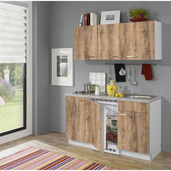 Xora Küchenblock E-Geräte, Spüle , Weiß , 1,0 Schubladen , 150 cm