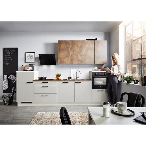 Xora Küchenleerblock Soft-Close-System , Mehrfarbig , 4 Schubladen , 330 cm
