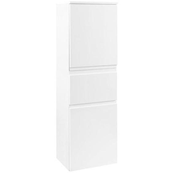Xora Midischrank Weiß , Holzwerkstoff , 2 Fächer , 1 Schubladen , 40x130x35 cm