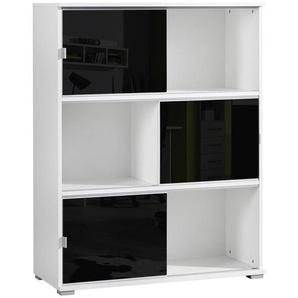 Xora: Regal, Schwarz, Weiß, B/H/T 93 121 42