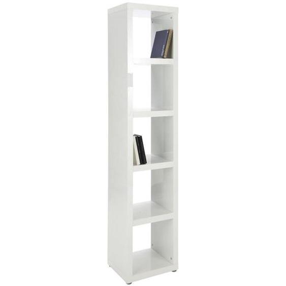 Xora Regal Weiß , Holzwerkstoff , 4 Fächer , 44x203x35 cm