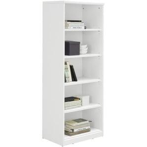 Xora: Regal, Holzwerkstoff, Weiß, B/H/T 55 148 36
