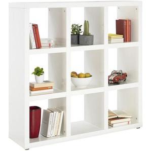 Xora: Raumteiler, Holzwerkstoff, Weiß, B/H/T 123 124 35