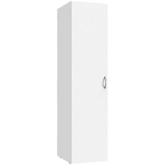 Xora Schrank Weiß , Holzwerkstoff , 1 Fächer , 30x185x54 cm