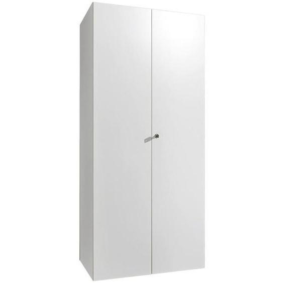 Xora Schrank Weiß , Holzwerkstoff , 4 Fächer , 80x185x54 cm