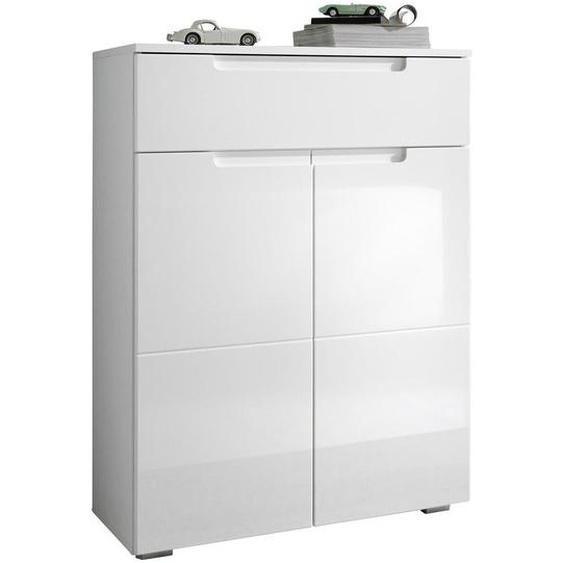 Xora Schuhschrank Weiß , Holzwerkstoff , 1 Fächer , 1 Schubladen , 70x101x40 cm