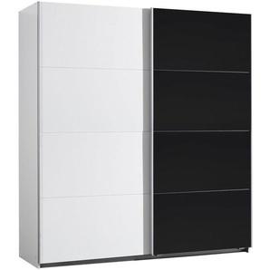 Xora: Schwebetürenschrank, Holzwerkstoff, Schwarz, Weiß, B/H/T 181 197 61