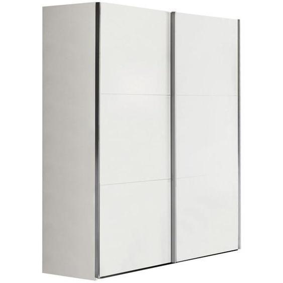 Xora Schwebetürenschrank 2-türig Weiß , Holzwerkstoff , 150.8x200.3x63.3 cm