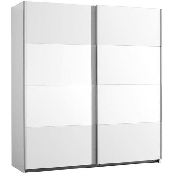 Xora Schwebetürenschrank , Weiß , Holzwerkstoff , 2 Fächer , 181x197x61 cm