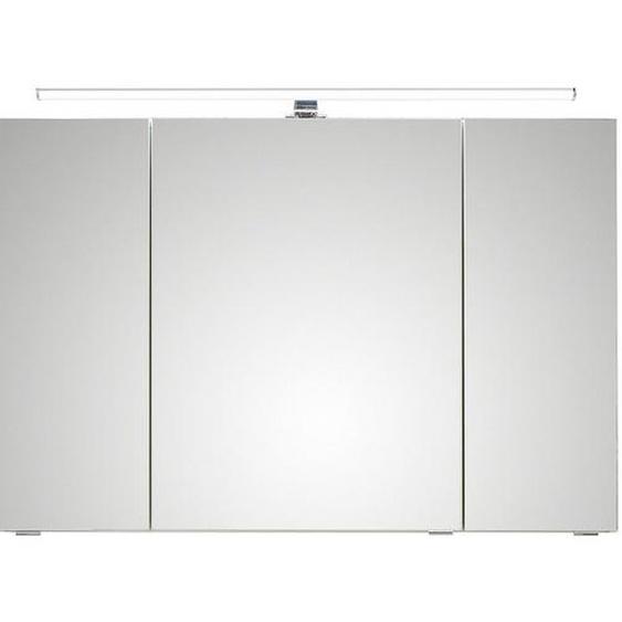 Xora Spiegelschrank Braun , Holzwerkstoff , Nachbildung , 6 Fächer , 105x70x16 cm