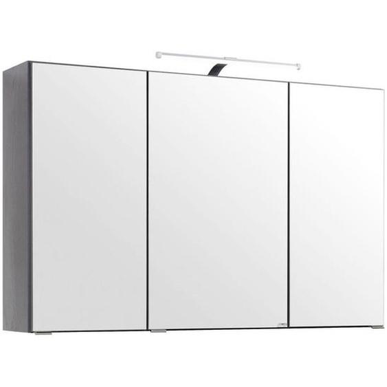 Xora Spiegelschrank Grau , Glas , 6 Fächer , 100x64x20 cm