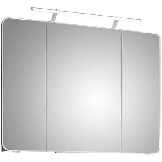 Xora Spiegelschrank Weiß , Glas , 6 Fächer , 90x72x17 cm