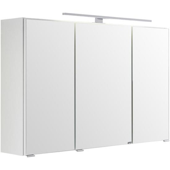 Xora Spiegelschrank Weiß , Glas , Nachbildung , 100x66x20 cm
